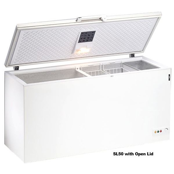 Blizzard SL50 1.5m Stainless Steel Lid Chest Freezer