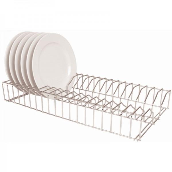 Vogue 0.6m Stainless Steel Plate Racks