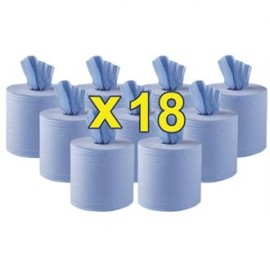 Jantex CF971 Centre Feed Blue Roll (Pack of 18)