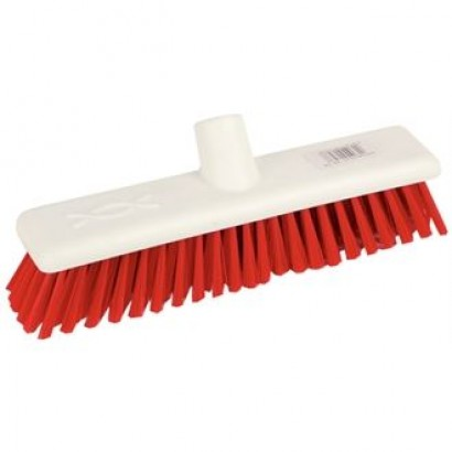 "Jantex DN830 12"" Soft Hygiene Red Broom Head"