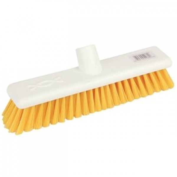 "Jantex DN831 12"" Soft Hygiene Yellow Broom Head"