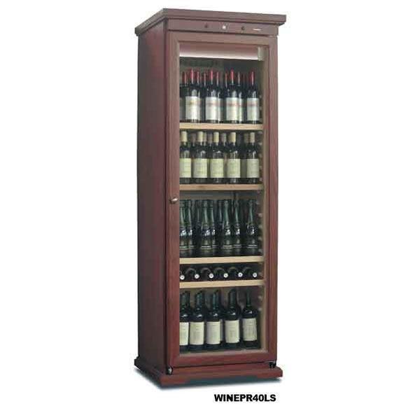 Mondial Elite WINEPR40LS 380 Litre Upright Walnut Wine Cooler