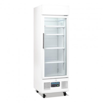 Polar DM075 Upright Display Fridge 218Ltr White