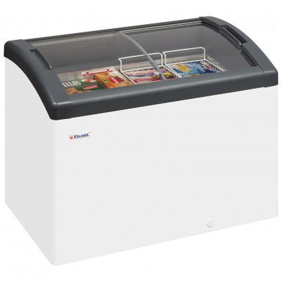 Elcold Focus 106 Sliding Curved Glass Lid Chest Freezer
