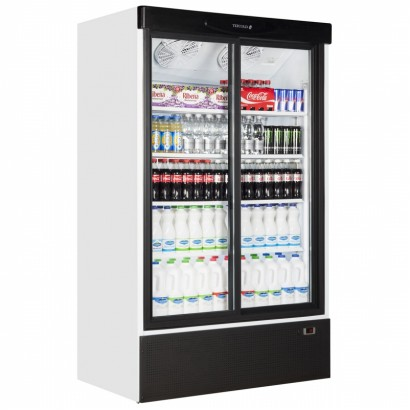 Tefcold FS1202S 895 Litre Double Glass Door Upright Merchandiser