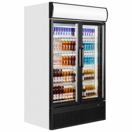 Tefcold FSC1200H 796 Litre Hinged Double Glass Door Merchandiser