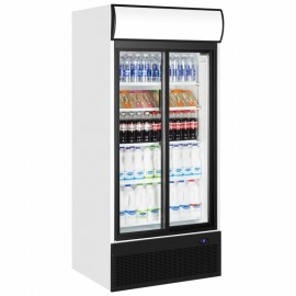 Tefcold FSC1200S 945 Litre Double Sliding Glass Door Upright Merchandiser