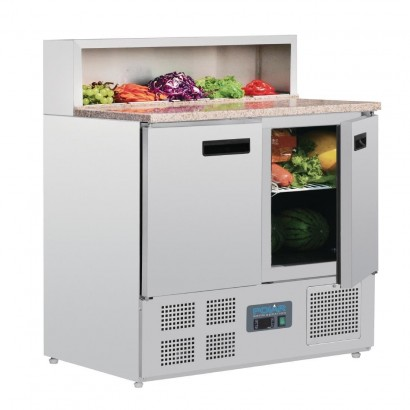 Polar G603 Two Door Pizza Prep Counter Fridge