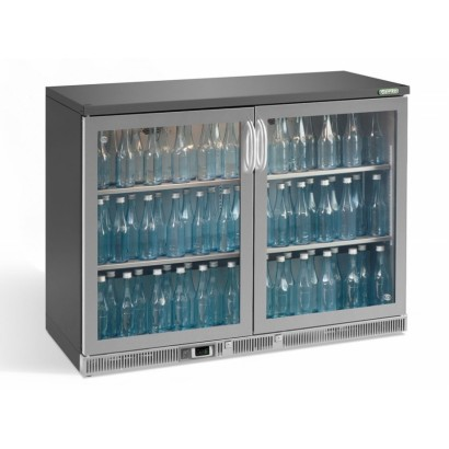 Gamko MG2-275GCS 1.2m Wide Stainless Steel Double Door Bottle Cooler