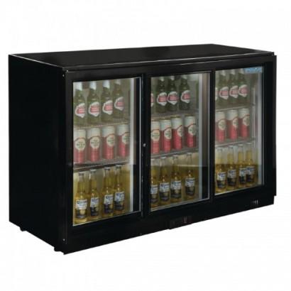 Polar GL006 Triple Sliding Door Bottle Cooler Black