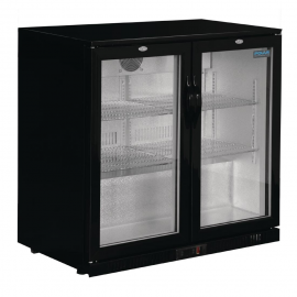 Polar GL012 Low Height Double Hinged Door Bottle Cooler Black