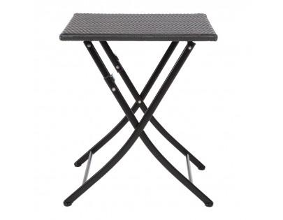 Bolero GL302 Square PE Wicker Folding Table