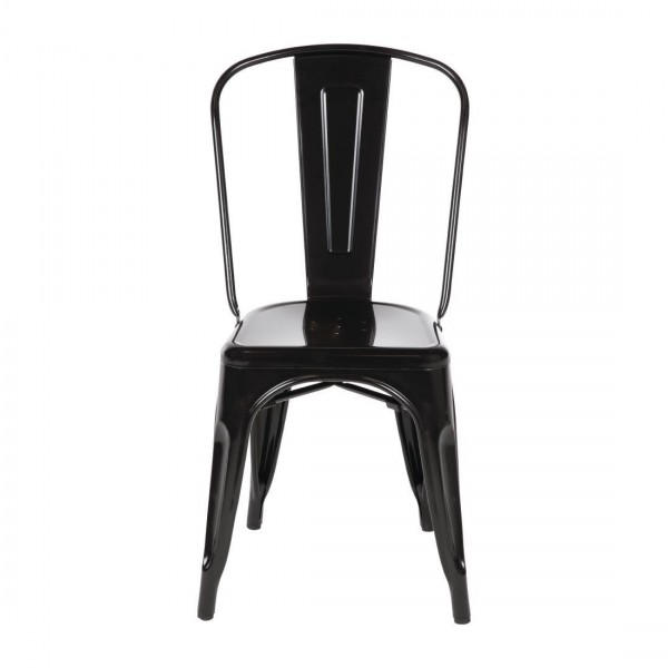 Bolero Bistro Steel Side Chair (Pack of 4)