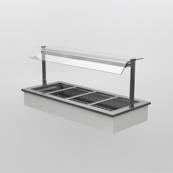 Counterline Integrale IHBM3-GO 1.2m 3 Pan Heated Display Bain Marie