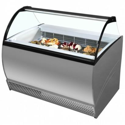 ISA Isabella 10LX 10 Pan Scoop Ice Cream Display Freezer