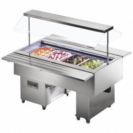 Tecfrigo ISOLA 8 VT SS Chilled 2m Buffet Display