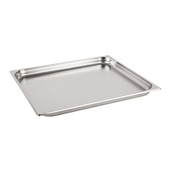 Vogue Stainless Steel 2/1 Double Full Size 65mm Deep Gastronorm Pan
