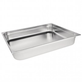 Vogue Stainless Steel 2/1 Double Full Size 100mm Deep Gastronorm Pan