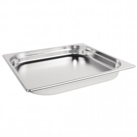 Vogue Stainless Steel 2/3 Two Third Size 40mm Deep Gastonorm Pan