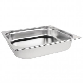 Vogue Stainless Steel 2/3 Two Third Size 65mm Deep Gastonorm Pan