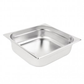 Vogue Stainless Steel 2/3 Two Third Size 100mm Deep Gastonorm Pan