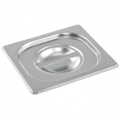 Vogue Stainless Steel 1/6 Gastronorm Pan Lids