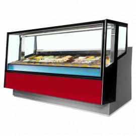 ISA Kaleido 120 12 Pan Ventilated Scoop Ice Cream Display Freezer