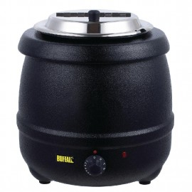Buffalo L715 10 Litre Black Soup Kettle