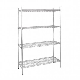 Vogue 4 Tier Wire Shelving Kit W915 x D610mm