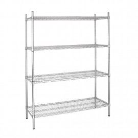 Vogue 4 Tier Wire Shelving Kit W1525 x D610mm