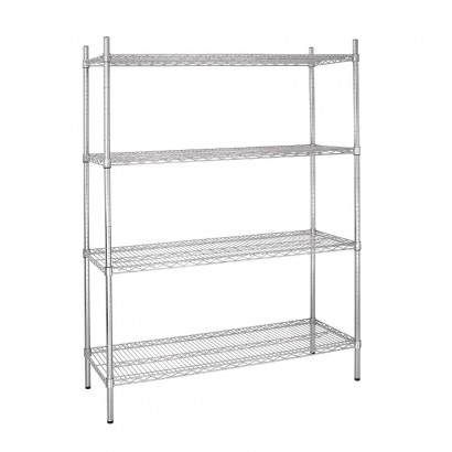Vogue 4 Tier Wire Shelving Kit W1525 x D460mm