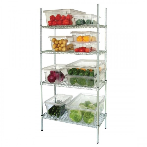 Vogue 4 Tier Wire Shelving Kit W1830 x D460mm