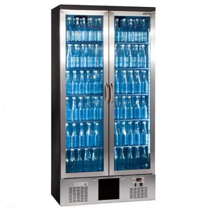 Gamko MG500GCS Double Door Stainless Steel Upright Bottle Cooler