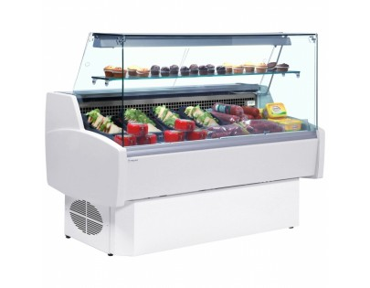 Frilixa Prima 130F 1.3m Flat Glass Slimline Serve Over Counter