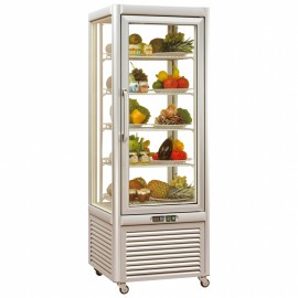 Tecfrigo PRISMA-400QS Single Door Cake Fridge in Silver