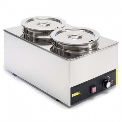 Buffalo S077 Wet Heat Bain Marie With Round Pots