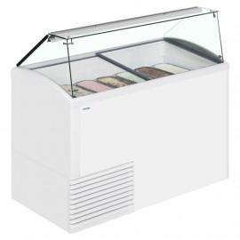 Framec SLANT 510 10 Pan Ice Cream Display Freezer