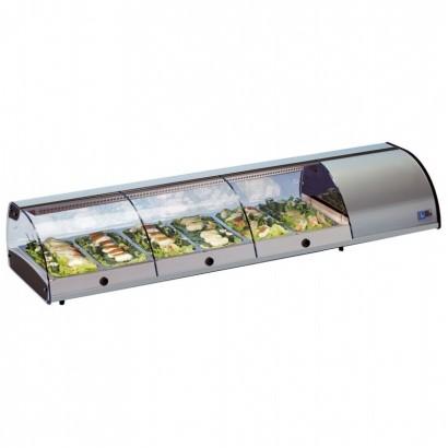 Tecfrigo SUSHI 4 SS 1m Self Serve Refrigerated Topping Shelf