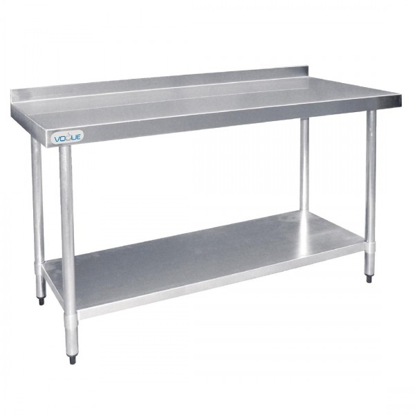 Vogue T381 Stainless Steel W1200 x D600mm Table with Upstand