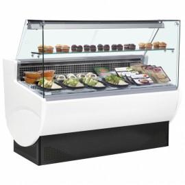 Trimco Tavira II 130F 1.3m Flat Glass Slimline Serve Over Counter
