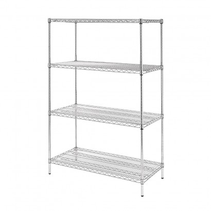 Vogue 4 Tier Wire Shelving Kit W1220 x D610mm
