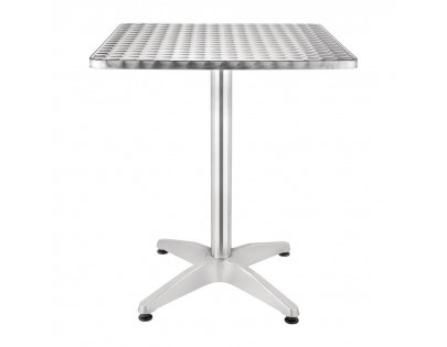 Bolero U427 Square Bistro Table Stainless Steel