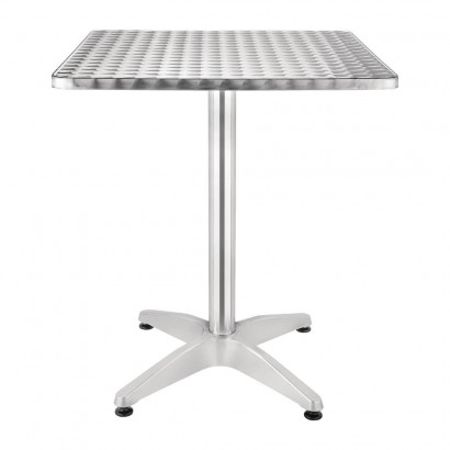 Bolero U427 Square Bistro Table Stainless Steel