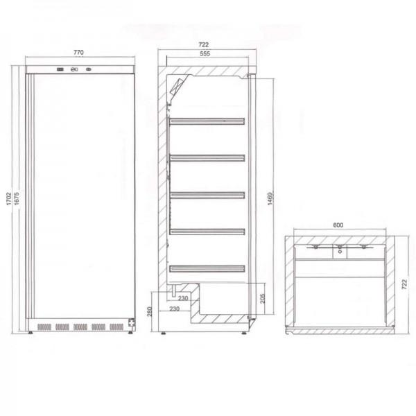 Tefcold UR550SB Single Door Upright Chiller Stainless Steel