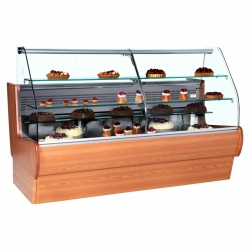 Frilixa Tejo 11CW 1.1m Wood Finish Patisserie Display