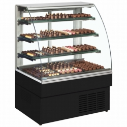 Trimco Zurich 120CHOC Black 1.2m Chocolate Display Fridge