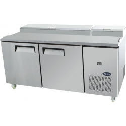 Atosa MPF8202 Two Door Food Prep Table Fridge