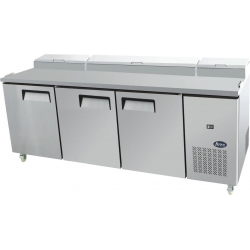 Atosa MPF8203 Three Door Food Prep Table Fridge