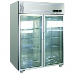 Blizzard HB2SSCR 1300Ltr Double Glass Door Storage Fridge