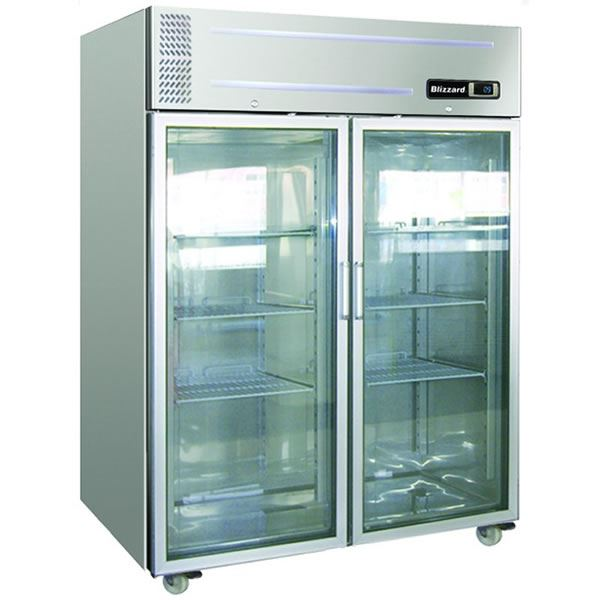 Blizzard LB2SSCR Double Glass Door Storage Freezer